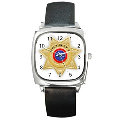 Sheriff S Star Sheriff Star Chief Square Metal Watch
