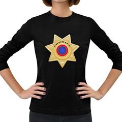 Sheriff S Star Sheriff Star Chief Women s Long Sleeve Dark T-Shirts