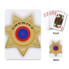 Sheriff S Star Sheriff Star Chief Playing Card
