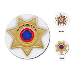 Sheriff S Star Sheriff Star Chief Playing Cards (Round)