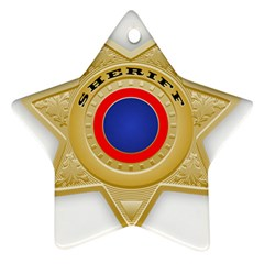 Sheriff S Star Sheriff Star Chief Star Ornament (Two Sides)