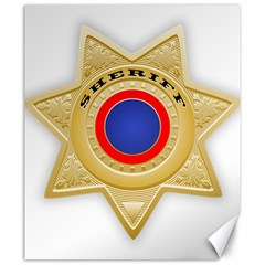Sheriff S Star Sheriff Star Chief Canvas 20  x 24