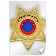 Sheriff S Star Sheriff Star Chief Canvas 24  x 36