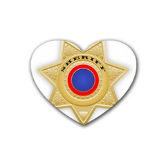 Sheriff S Star Sheriff Star Chief Rubber Coaster (Heart)