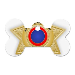 Sheriff S Star Sheriff Star Chief Dog Tag Bone (One Side)