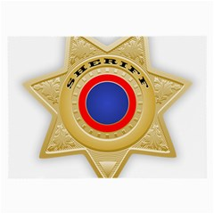 Sheriff S Star Sheriff Star Chief Large Glasses Cloth (2-Side)