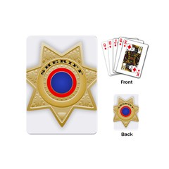 Sheriff S Star Sheriff Star Chief Playing Cards (mini)