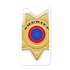 Sheriff S Star Sheriff Star Chief Apple iPhone 4 Case (White)