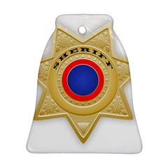 Sheriff S Star Sheriff Star Chief Bell Ornament (Two Sides)