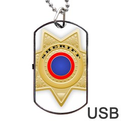 Sheriff S Star Sheriff Star Chief Dog Tag USB Flash (One Side)