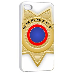 Sheriff S Star Sheriff Star Chief Apple iPhone 4/4s Seamless Case (White)