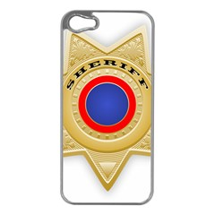 Sheriff S Star Sheriff Star Chief Apple iPhone 5 Case (Silver)