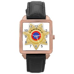Sheriff S Star Sheriff Star Chief Rose Gold Leather Watch