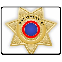 Sheriff S Star Sheriff Star Chief Double Sided Fleece Blanket (Medium)