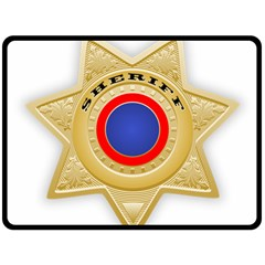 Sheriff S Star Sheriff Star Chief Double Sided Fleece Blanket (Large)