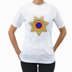 Sheriff S Star Sheriff Star Chief Women s T-Shirt (White)
