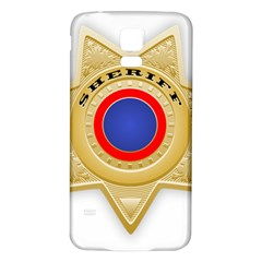 Sheriff S Star Sheriff Star Chief Samsung Galaxy S5 Back Case (white)