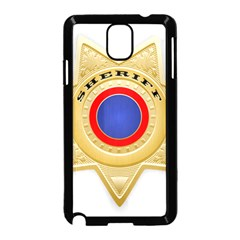 Sheriff S Star Sheriff Star Chief Samsung Galaxy Note 3 Neo Hardshell Case (Black)