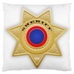 Sheriff S Star Sheriff Star Chief Large Flano Cushion Case (two Sides)