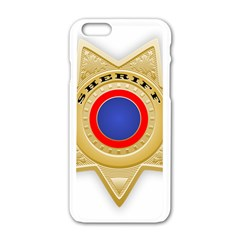 Sheriff S Star Sheriff Star Chief Apple iPhone 6/6S White Enamel Case