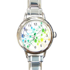 Network Connection Structure Knot Round Italian Charm Watch