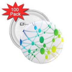 Network Connection Structure Knot 2.25  Buttons (100 pack)