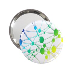 Network Connection Structure Knot 2.25  Handbag Mirrors