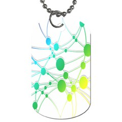 Network Connection Structure Knot Dog Tag (One Side)