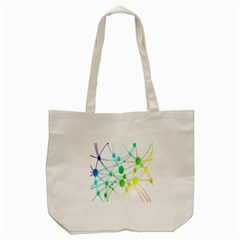 Network Connection Structure Knot Tote Bag (cream)