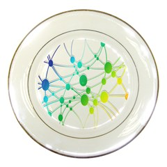 Network Connection Structure Knot Porcelain Plates