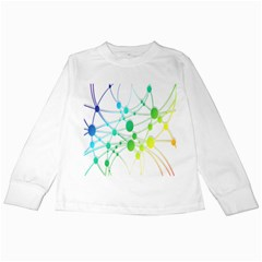 Network Connection Structure Knot Kids Long Sleeve T-Shirts