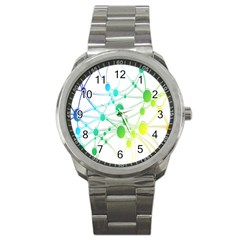 Network Connection Structure Knot Sport Metal Watch