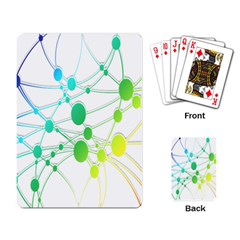 Network Connection Structure Knot Playing Card