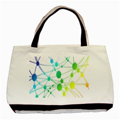 Network Connection Structure Knot Basic Tote Bag