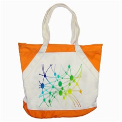 Network Connection Structure Knot Accent Tote Bag