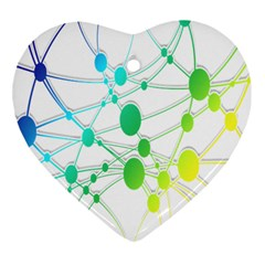 Network Connection Structure Knot Heart Ornament (Two Sides)