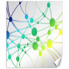 Network Connection Structure Knot Canvas 8  x 10