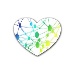 Network Connection Structure Knot Heart Coaster (4 pack)