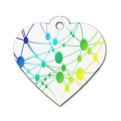 Network Connection Structure Knot Dog Tag Heart (One Side)