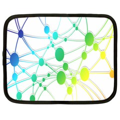 Network Connection Structure Knot Netbook Case (Large)