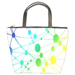 Network Connection Structure Knot Bucket Bags