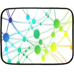 Network Connection Structure Knot Fleece Blanket (Mini)