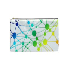 Network Connection Structure Knot Cosmetic Bag (Medium)