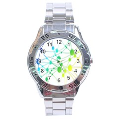 Network Connection Structure Knot Stainless Steel Analogue Watch
