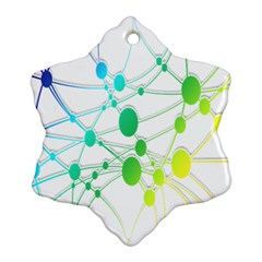 Network Connection Structure Knot Snowflake Ornament (Two Sides)