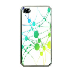 Network Connection Structure Knot Apple iPhone 4 Case (Clear)