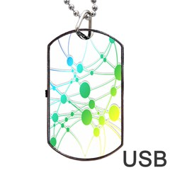 Network Connection Structure Knot Dog Tag Usb Flash (one Side)