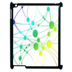 Network Connection Structure Knot Apple iPad 2 Case (Black)