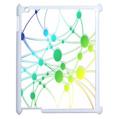 Network Connection Structure Knot Apple iPad 2 Case (White)