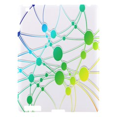 Network Connection Structure Knot Apple iPad 3/4 Hardshell Case